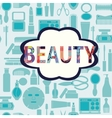 makeup cosmetic and beauty silhouettes vector image vector image