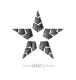 metal star with arrows on white background vector image vector image