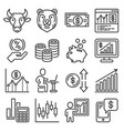 money investment and banking icons set vector image vector image