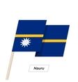 Nauru Ribbon Waving Flag Isolated on White vector image vector image