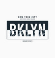 new york brooklyn t-shirt design with camouflage vector image vector image