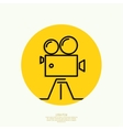 Old movie camera vector image vector image