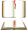 opened books with blank pages vector image vector image