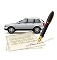Paperwork for car vector image vector image