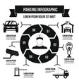 parking service infographic concept simple style vector image vector image