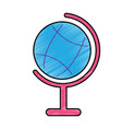 planet earth map icon image vector image