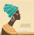 portrait beautiful african woman in vector image