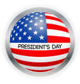 presidents day card national american vector image vector image