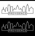 providence skyline linear style editable file vector image vector image
