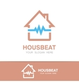 pulsating house logo vector image vector image