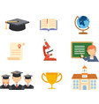 school and education icon set vector image vector image