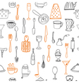 Seamless pattern with kitchen utensil vector image vector image