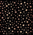 seamless stars copper foil on black pattern vector image