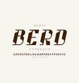 serif typeface modern font design alphabet vector image vector image