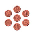 set of realistic bronze coins flat style isolated vector image vector image