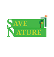 sign for save nature with tree vector image