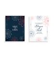 stylish wedding invitation card design with line vector image