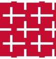 Stylized danish flag pattern vector image