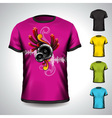 t-shirt set on a musical theme with speakers vector image vector image
