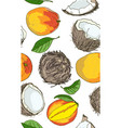 tropical fruits - seamless pattern vector image vector image