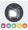 TV single icon vector image