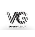 vg v g lines letter design with creative elegant vector image