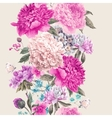 Vintage floral seamless border vector image vector image
