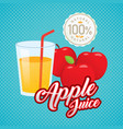 vintage fresh apple juice vector image