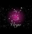 virgo zodiac constellations sign vector image vector image