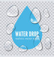 water drop realistic vector image vector image