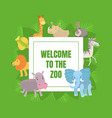welcome to zoo banner template with cute vector image vector image