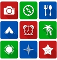 White Travel Icons with Long Shadows Vol 2 vector image