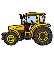 Yellow tractor vector image vector image