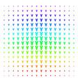 yuan shape halftone spectrum effect vector image vector image