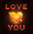 i love you love poster for valentines day vector image