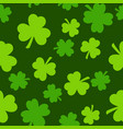 seamless saint patrick s day pattern with green vector image