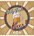 Retro beer poster Vintage poster template vector image