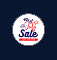 4th july sale promotional banner vector image vector image
