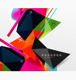 abstract geometric background polygonal triangle vector image