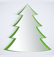 abstract paper christmas tree vector image vector image