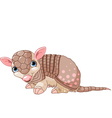 Armadillo cartoon vector image