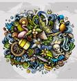 bahamas summer hand drawn cartoon doodles vector image vector image