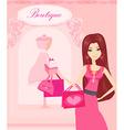 beautiful women Shopping vector image vector image