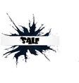 black friday big sale black ink splach vector image vector image
