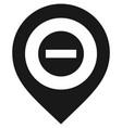 black map pin vector image