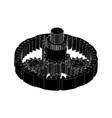 black planetary gear vector image vector image