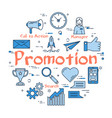 blue round promotion concept vector image vector image