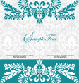 blue swirly invitation card vector image