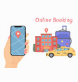booking online car vector image