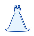 bride dress line icon vector image
